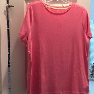 Talbots short sleeve tee, size 1X, pink, NWT